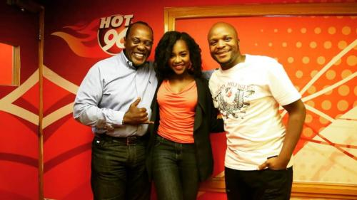 Jeff and Jalas with Joyce Omondi