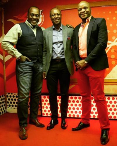 Jeff and Jalas with former deputy governor of Nairobi